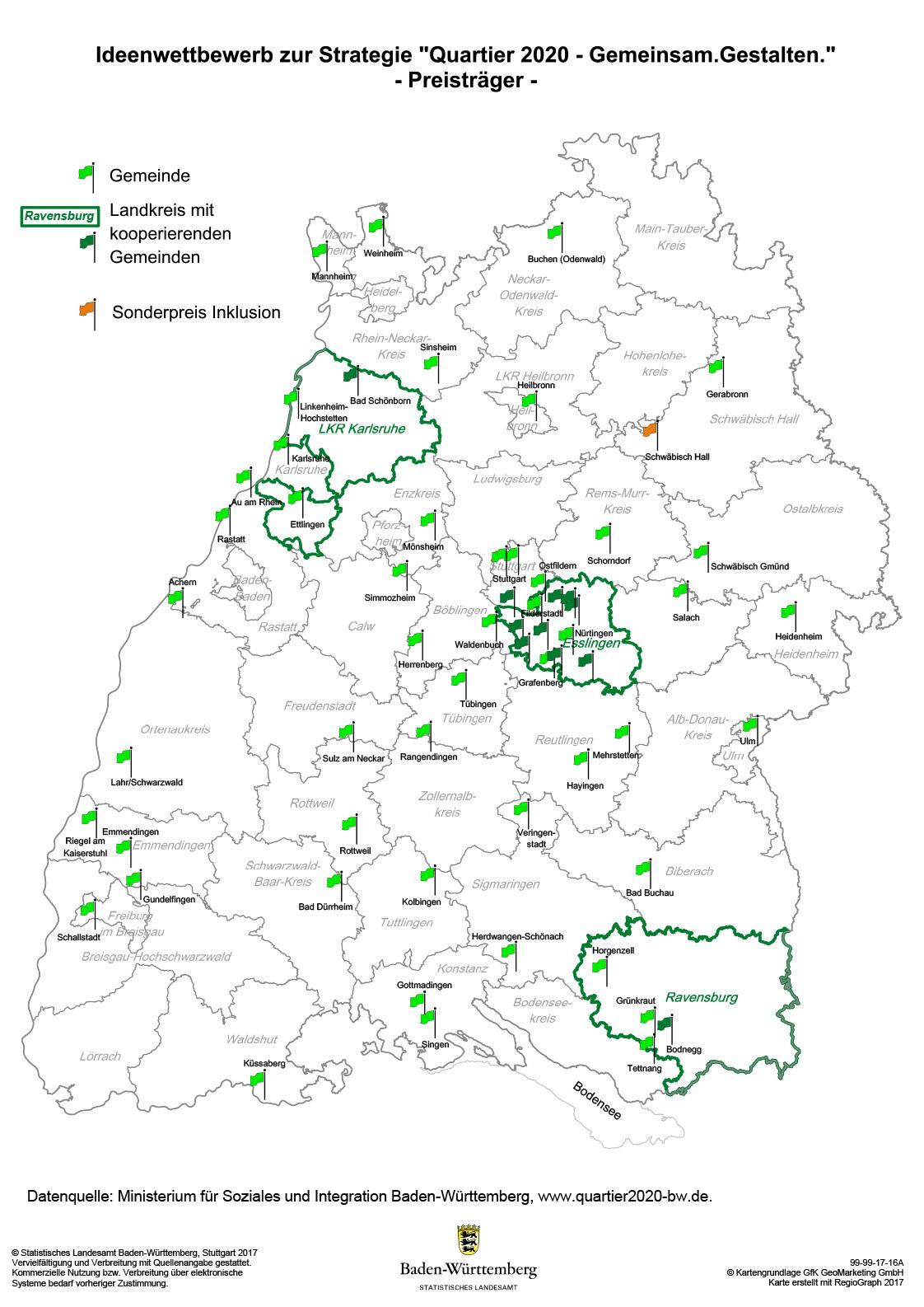 Schwäbische Alb Karte Städte.Ideenwettbewerb Ministerium Für Soziales Und Integration Baden